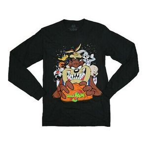 Looney Tunes Space Jam Long Sleeve Graphic T-Shirt